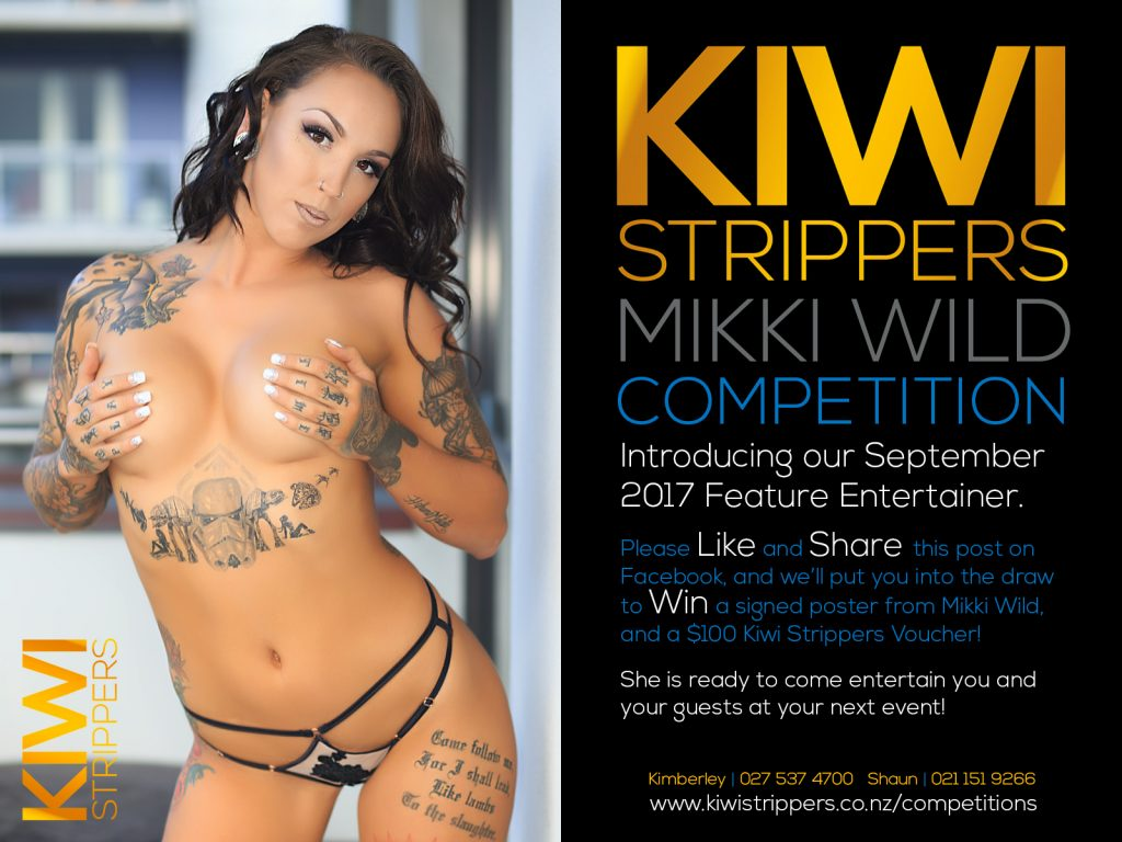 Kiwi Strippers Competition - Mikki Wild