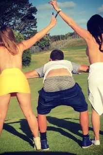 Topless Hostesses Golf