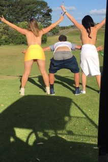 Auckland Golf Topless - Victoria and Tyler Diamond
