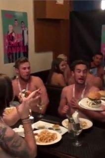 Topless Waiter The Edge - James